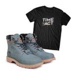 Bota ACT Second Shift Cinza + Camiseta Preto