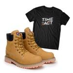 Kit Bota ACT Timber Milho + Camiseta Preta
