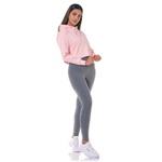 Blusa Moletom Cropped Rosa Feminino Adaption