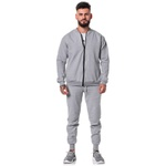 Jaqueta Moletom Bomber Masculina Adaption Lisa Cinza