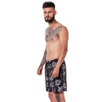 Bermuda Tattoo Elastic Masculina Adaption Preta