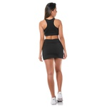 Kit Top + Short Saia Preto Feminino
