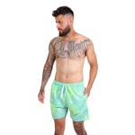 Bermuda Tie Dye Elastic Verde Masculina Adaption