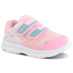Tênis Infantil Feminino Baby Velcro Rosa