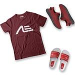 Kit Camiseta Tênis e Chinelo Adaption Bordo