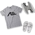 Kit Camiseta Tênis e Chinelo Adaption Cinza