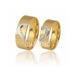 Alianças Personalizada De Ouro 18k Com Diamantes