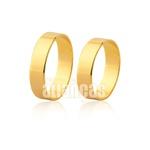 Aliança De Noivado De Ouro 18k