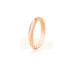 Alianças De Noivado e Casamento Em Ouro Rose 18k