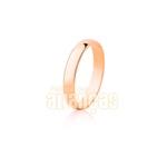 Alianças De Noivado e Casamento Em Ouro Rose 18k 0,750 Fa-11-r
