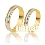 Alianças De Bodas Em Ouro Amarelo 18k 0,750 Fa-227