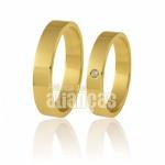Alianças em Ouro com Diamante