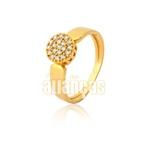 Anel De Ouro Ouro Com Zirconias