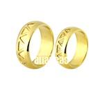 Alianças De Noivado e Casamento Em Ouro Amarelo 18k 0,750 Fa-702