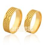 Alianças De Noivado e Casamento Em Ouro Amarelo 18k 0,750 Fa-1001