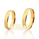 Alianças de Ouro Anatômicas com 5,00 Gramas com Preço de Fábrica