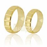 Alianças De Noivado e Casamento Em Ouro Amarelo 18k 0,750 Fa-215