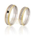 Alianças De Noivado e Casamento Em Ouro Branco 18k 0,750