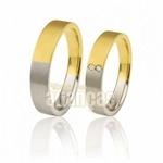 Alianças De Noivado e Casamento Em Ouro Amarelo 18k 0,750 Fa-379