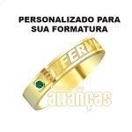 Anel De Formatura De Enfermagem Em Ouro Amarelo 18k 0,750 Fa-1002-n