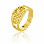 Anel Feminino Em Ouro Amarelo 18k 0,750 An-120