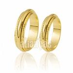 Alianças De Noivado e Casamento Em Ouro Amarelo 18k 0,750 Fa-261