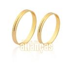 Belíssimas Alianças De Noivado e Casamento Em Ouro Amarelo 18k