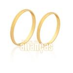 Aliança Fina Diamantada Em Ouro 18k