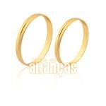 Alianças De Ouro 18k Diamantadas