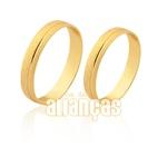Alianças De Ouro Com Friso 10k