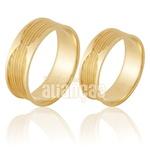 Alianças De Noivado e Casamento Em Ouro Amarelo 18k 0,750 Fa-912