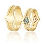 Alianças De Noivado e Casamento Em Ouro Amarelo 18k 0,750 Fa-926