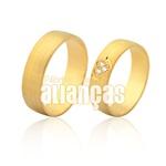 Alianças De Noivado e Casamento Em Ouro Amarelo 18k 0,750 Fa-966-2