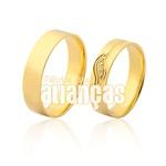 Alianças De Noivado e Casamento Em Ouro Amarelo 18k 0,750 Fa-968