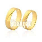Alianças De Noivado e Casamento Em Ouro Amarelo 18k 0,750 Fa-970