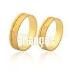 Alianças De Noivado e Casamento Em Ouro Amarelo 18k 0,750 -fa-976