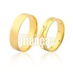 Alianças De Noivado e Casamento Em Ouro Amarelo 18k 0,750 Fa-977