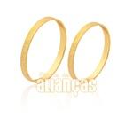 Alianças De Noivado e Casamento Em Ouro Amarelo 18k 0,750 Fa-1567