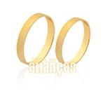 Aliança De Ouro Diamantada 10k
