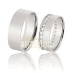 Aliança De Noivado e Casamento Em Ouro Branco 18k 0,750 Fa-899-b