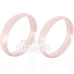Alianças De Noivado e Casamento Em Ouro Rose 18k 0,750 Fa-128-r