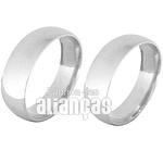 Alianças De Noivado e Casamento Em Ouro Branco 18k 0,750 Fa-142-b