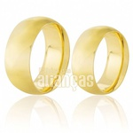 Alianças de Noivado e Casamento Anatomicas de Ouro 18k