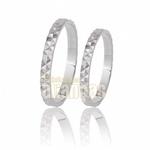 Alianças de Noivado e Casamento em Ouro Branco 10k