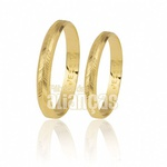 Alianças Baratas de Ouro 18k Diamantadas