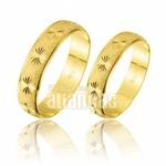 Alianças Diamantadas de Ouro 10k