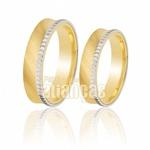 Alianças De Bodas Em Ouro Amarelo 18k 0,750 Fa-259