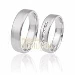 Aliança De Noivado e Casamento Em Ouro Branco 18k 0,750 Fa-294-b