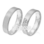 Alianças De Noivado e Casamento Em Ouro Branco 18k 0,750 Fa-305-b