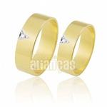 Alianças com Diamante de Ouro 18k